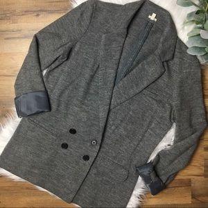 J Crew Wool Blend Charcoal Gray Blazer Size 6